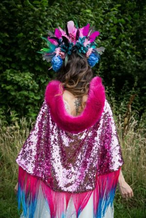 Candy Cane Pink Cape