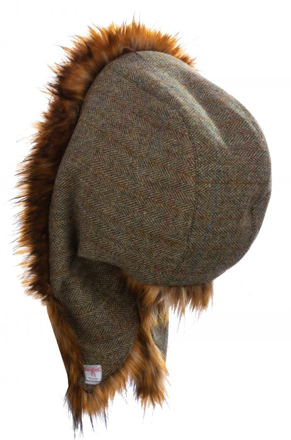 Golden Brown Fox with Khaki Harris Tweed