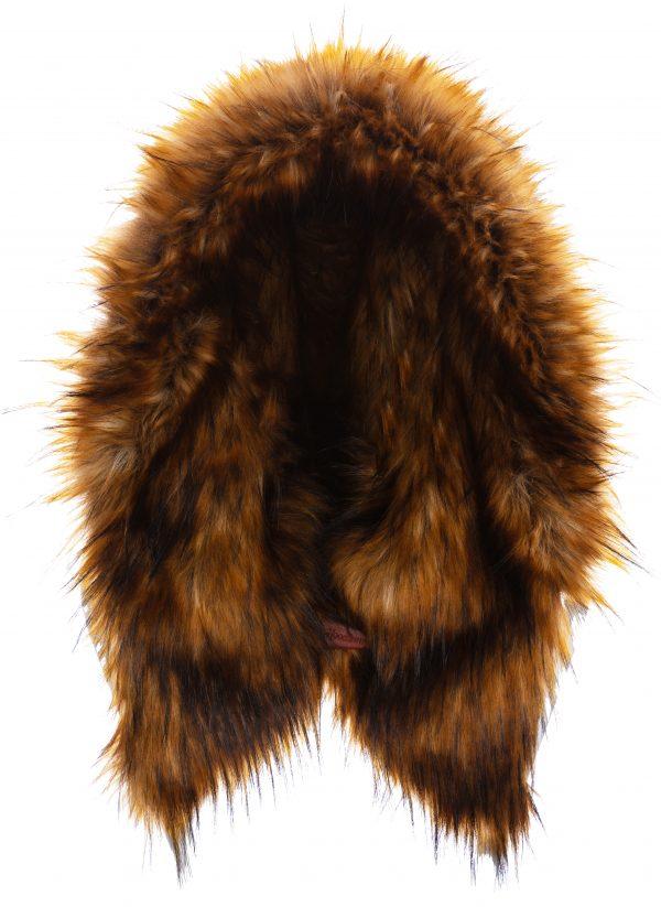 Golden Brown Fox with Khaki Harris Tweed