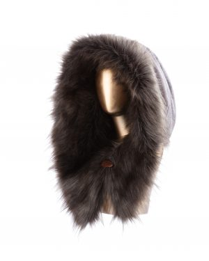 Morwenna – Luxury faux fur hood