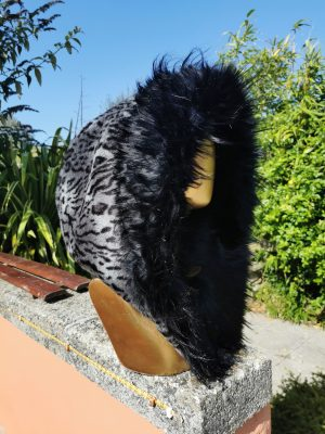 Silver Lynx Faux Fur Hood with Super Luxe Long Black Faux Fur